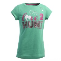 best price carhartt ca9391 - love to hunt tee girls green limited sale last chance