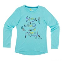best price carhartt ca9548 - stay wild and free tee girls blue limited sale last chance