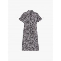 limited sale navy blue bb shirt dress with floral print best price last chance