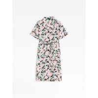 limited sale shirt dress with tropical print last chance best price