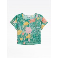 last chance green bala top with floral print best price limited sale