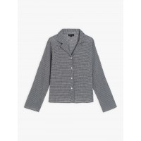 last chance black and white gingham crepe liseron shirt limited sale best price