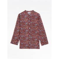 best price red mili tunic blouse with floral print limited sale last chance