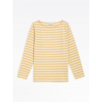 limited sale yellow and light beige striped bow t-shirt last chance best price