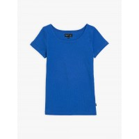 best price royal blue short sleeves le chic t-shirt last chance limited sale