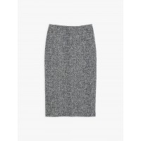 last chance navy blue and white tweed zip skirt best price limited sale