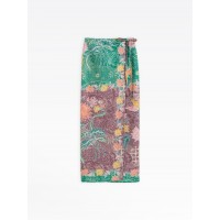 best price green gita pareo skirt with floral print limited sale last chance