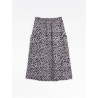 best price navy blue smocked skirt with floral print limited sale last chance