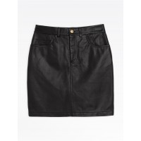 limited sale black dip-dyed lambskin kate skirt best price last chance