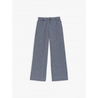 limited sale blue and white yleny pants with thin stripes best price last chance