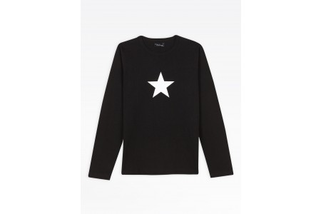 last chance black long sleeves star men's t-shirt best price limited sale