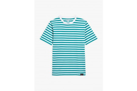 best price green and white striped coulos t-shirt limited sale last chance