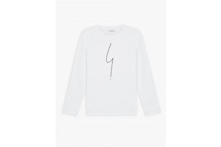 last chance white long sleeves irony t-shirt best price limited sale