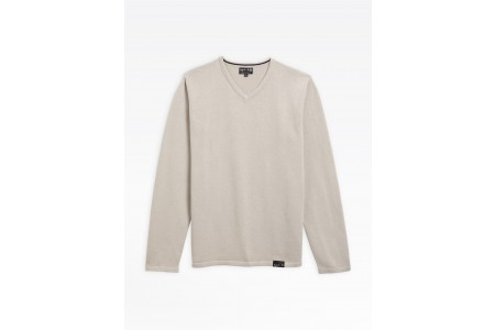 last chance taupe v sweater best price limited sale