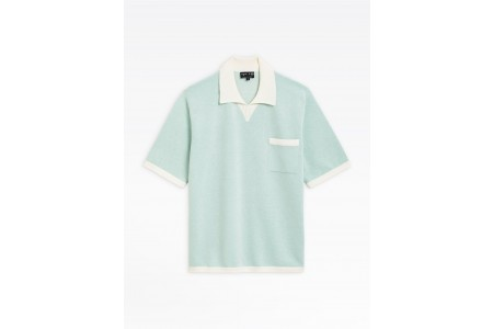 best price light green piqué knit cup polo shirt last chance limited sale