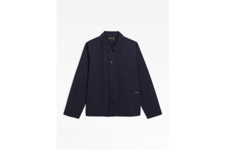 last chance navy blue washed cotton armand jacket limited sale best price