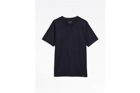 best price navy blue recycled cotton cup t-shirt limited sale last chance