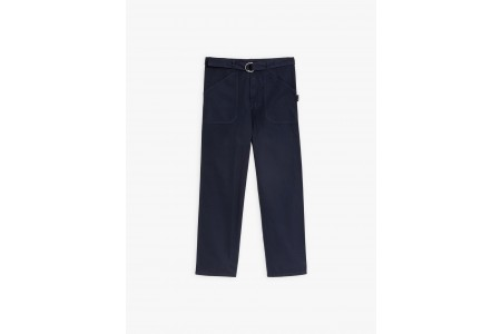 best price navy blue washed cotton work pants last chance limited sale