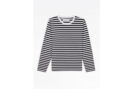 best price black/white stripes t-shirt coulos limited sale last chance