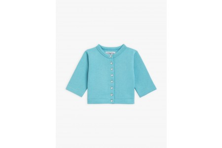 limited sale turquoise baby cotton fleece snap cardigan last chance best price