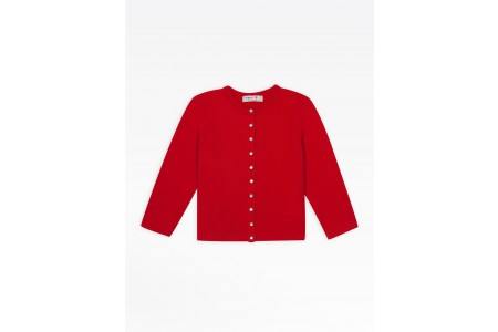 """best price kids bright red """"12 ans"""" snap cardigan last chance limited sale"""