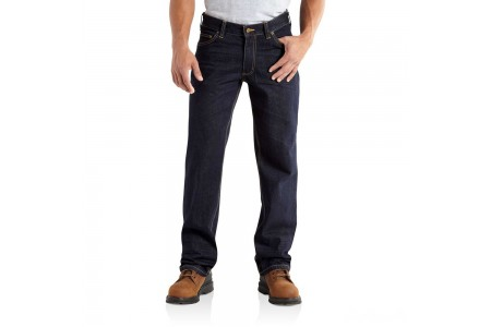 last chance carhartt 101019 - series 1889® loose fit straight-leg jean clean rinse best price limited sale