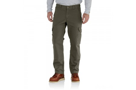 last chance carhartt 102287 - flannel lined ripstop relaxed fit cargo pant moss best price limited sale