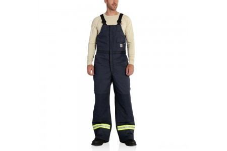 last chance carhartt 100785 - flame-resistant extremes® arctic bib overall dark navy limited sale best price