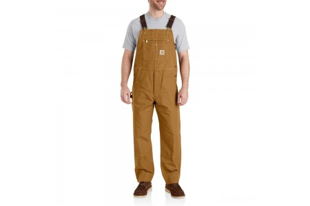 last chance carhartt 102776 - duck bib overalls unlined brown best price limited sale