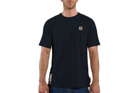 best price carhartt frk008 - flame-resistant force® short sleeve t-shirt dark navy last chance limited sale