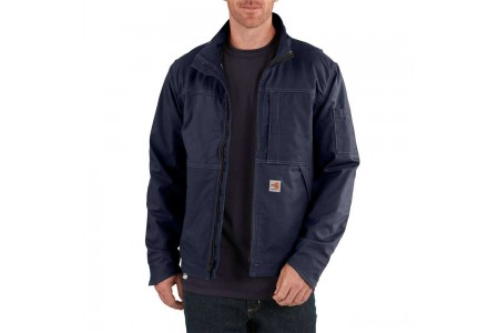 best price carhartt 102179 - flame-resistant full swing® quick duck® jacket dark navy last chance limited sale