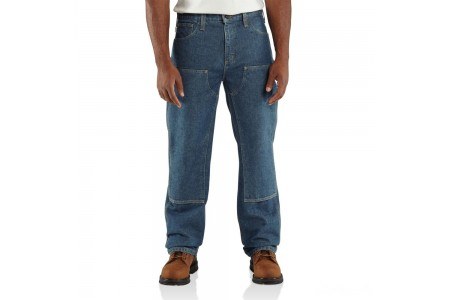 last chance carhartt 100170 - flame-resistant double front relaxed fit jean midstone limited sale best price