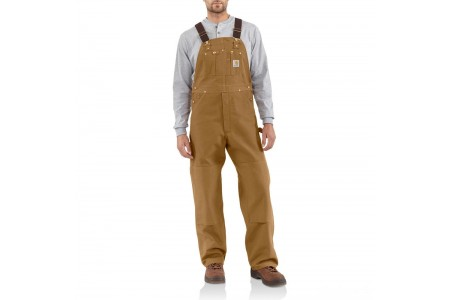 limited sale carhartt r01 - duck bib overall unlined brown last chance best price