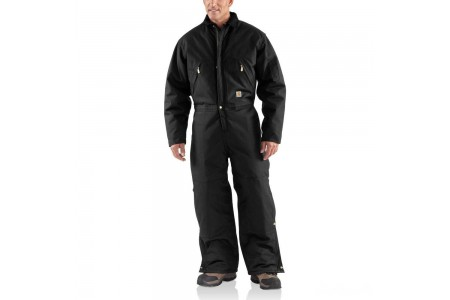 last chance carhartt x06 - extremes® zip front coverall quilt lined black limited sale best price