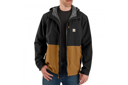limited sale carhartt 104039 - storm defender® midweight hooded jacket black/carhartt brown last chance best price