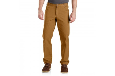 last chance carhartt 103279 - rugged flex® relaxed fit duck dungaree brown best price limited sale