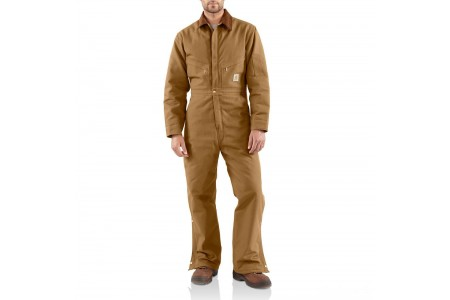 last chance carhartt x01 - duck coverall quilt lined brown best price limited sale