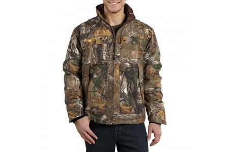 limited sale carhartt 101444 - quick duck® camo traditional jacket quilt lined realtree xtra best price last chance