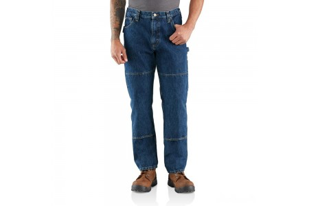 best price carhartt 103887 - rugged flex® relaxed fit utility double front jean axel last chance limited sale
