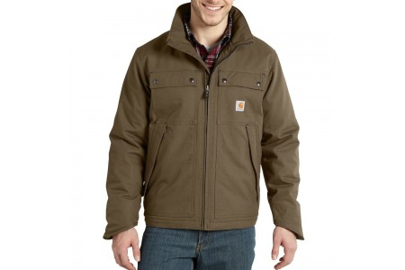 last chance carhartt 101492 - jefferson quick duck traditional jacket quilt lined canyon brown limited sale best price