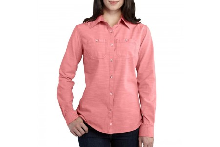 limited sale carhartt 102073 - women's milam shirt burnt coral last chance best price