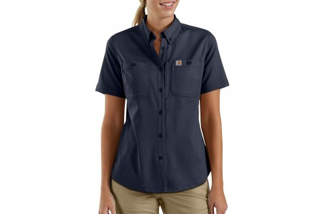 last chance carhartt 103105 - women's rugged professional™ series short-sleeve shirt navy limited sale best price