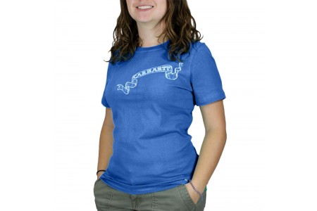 limited sale carhartt wk042 - women's graphic t-shirt pacific blue last chance best price