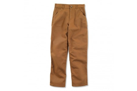limited sale carhartt ck8311 - washed canvas dungaree pant boys brown best price last chance