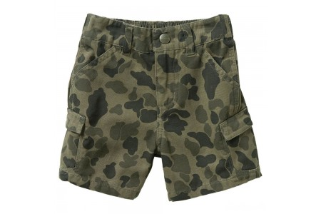 limited sale carhartt ch8292 - camo printed cargo short boys green duck last chance best price