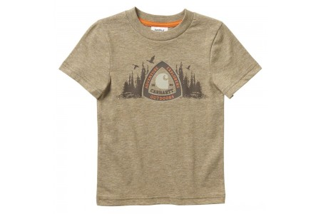 last chance carhartt ca6069 - short sleeve heather graphic tee boys canyon brown limited sale best price