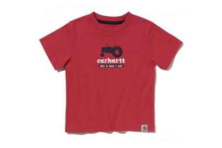 limited sale carhartt ca8123 - t-shirt boys red best price last chance