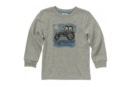limited sale carhartt ca6010 - farm and ranch tee boys heather gray best price last chance