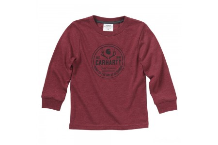 limited sale carhartt ca6050 - great outdoors tee boys rhubarb best price last chance