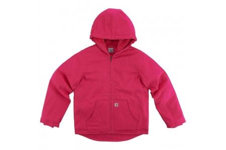 limited sale carhartt cp9531 - redwood jacket sherpa lined girls pink peacock best price last chance